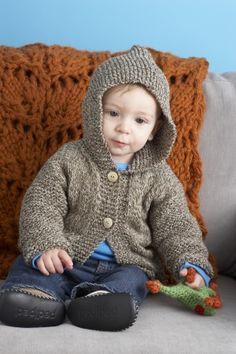 Ravelry: Playdate Hoodie pattern by Lion Brand Yarn Knitting Patterns Boys, Baby Boy Knitting, Knitting For Kids, Free Knitting, Knitting Projects, Crochet Patterns, Sweater Patterns, Lion Brand Patterns, Baby Patterns