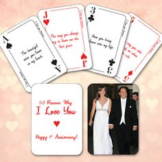 deck of cards anniversary gift