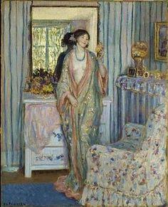 Frederick Frieseke (1874-1939) The Robe
