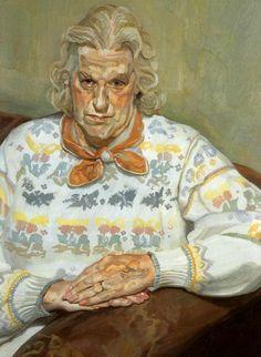 Woman in a Butterfly Jersey, 1990 - 1991 - Lucian Freud Lucian Freud Paintings, Lucian Freud Portraits, Robert Rauschenberg, Edward Hopper, Dr Sigmund Freud, Kandinsky, Figure Painting, Painting & Drawing, Antoine Bourdelle