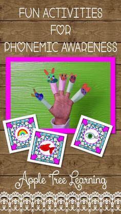 FUN activities for PHONEMIC AWARENESS!  Play to Learn! #reading #phonemicawareness