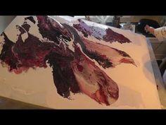 Large Acrylic Pour - YouTube