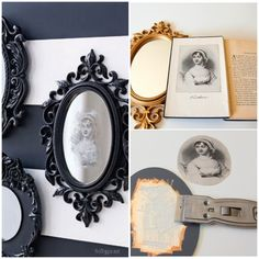 Learn how to make a spooky mirror for Halloween.