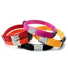Stealth Personalized Nylon Dog Collar with Laser by LaserPets, $27.99