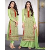 Fresh Green Embroidered Palazzo Suit