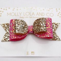 Beautiful girlie gold and pink glitter :)