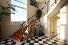The reception at The Three Towers eco house. Riding Holiday, Organic Restaurant, Towers, Corporate Events, Beautiful Homes, Eco Friendly, Reception, Stairs, Interior