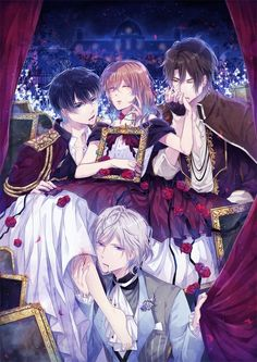 I have decided to creat a picture book of the game ikemen Vampire! Anime Couples Drawings, Anime Couples Manga, Cute Anime Couples, Anime Harem, Manhwa, Romantic Manga, Manga Collection, Shall We Date, Anime Love Couple