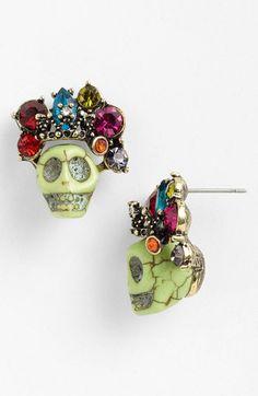 Spring Street 'Jewel Crown' Stud Earrings available at #Nordstrom