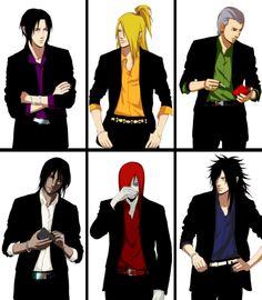 Itachi, Deidara, Hidan, Kakuzu, Nagato & Madara - Naruto
