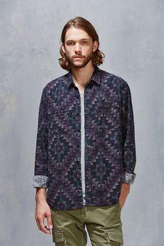 Stapleford Roan Printed Flannel Button-Down Shirt