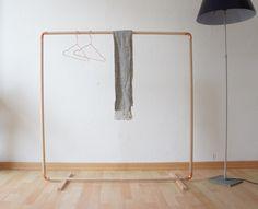 Wood & Copper Cloth Rack von Calvill auf DaWanda.com