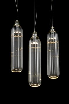 Flute Pendant by Tom Kirk Lighting