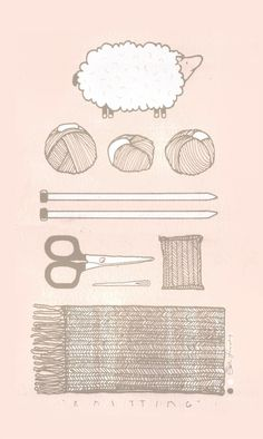 Las Teje y Maneje: #knit illustration
