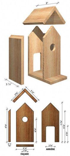 Wood Bird Feeder, Bird House Feeder, Bird House Plans Free, Bird House Kits, Homemade Bird Houses, Homemade Bird Feeders, Wooden Bird Houses, Bird Houses Diy, Woodworking Projects Diy