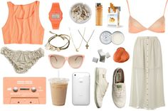 """""""peachy."""" by skinnywhispers ❤ liked on Polyvore"""