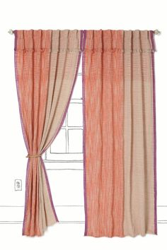 composition curtains, #anthropologie
