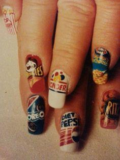 Junk food nail art by susan tumblety