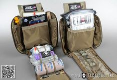 There are tons of options when it comes to first aid kits. Rolling your own is more cost effective, but if you choose to buy a kit make sure its a high-quality product. We highly recommend those sold by ITS Tactical . Tactical Store, Tactical Gear, Tactical Equipment, Tactical Backpack, Tactical Survival, Medical Pictures, Pvc Patches, Medical Laboratory, Medical Technology