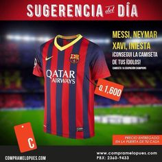 Primera equipación del FC Barcelona