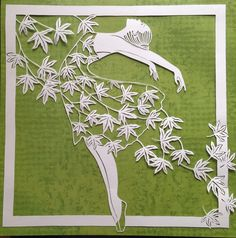 soldOriginal paper cut dancing with the wind by DESIGNPAPER - Paper cutting - Diy And Crafts, Arts And Crafts, Paper Crafts, 3d Laser Printer, Origami, Paper Artwork, Paper Quilling, Quilling Comb, Paper Cutting