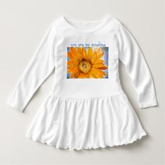 Shop You are My Sunshine Sunflower Watercolor Art Dress created by KariAnapol. Watercolor Sunflower, Watercolor Art, Sunflower Dress, Girls Dresses, Flower Girl Dresses, Chiffon Gown, You Are My Sunshine, Consumer Products, Cotton Thread