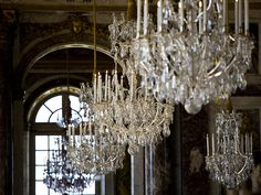 Chandelier Lamp, Chandeliers, Hall Of Mirrors, Baroque Design, Palace Of Versailles, Dream Furniture, French Architecture, Mansions Homes, Louis Xiv