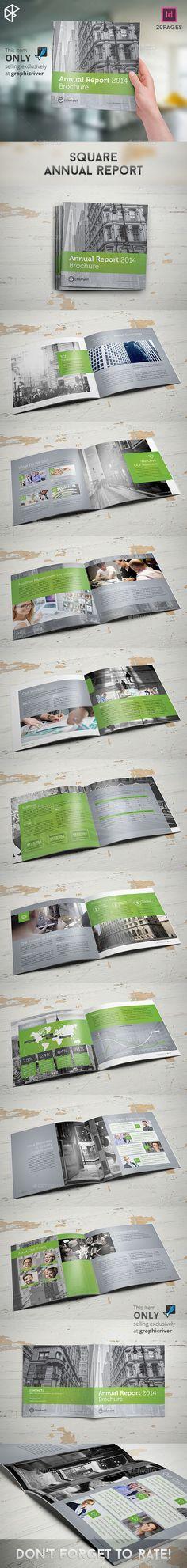 Square Annual Report Brochure Template #design Download: http://graphicriver.net/item/square-annual-report/10280698?ref=ksioks