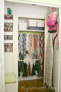 """""""DIY Show-Off: Dressing Room/Guest Bedroom Reveal"""" - This DIY has some excellent ideas for re-arranging closets, whether small or large!"""