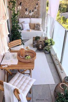 Small Balcony Design, Small Balcony Decor, Terrace Design, Balcony Ideas, Tiny Balcony, Small Balconies, Small Patio Ideas Townhouse, Terrace Ideas, Outdoor Balcony