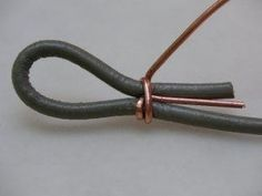 How to end a leather cord, tutorial on great blog wire jewelry, jewelry tutorials, bracelets, necklac, studiodax blog, wire tutorials, cords, jewelri, leather