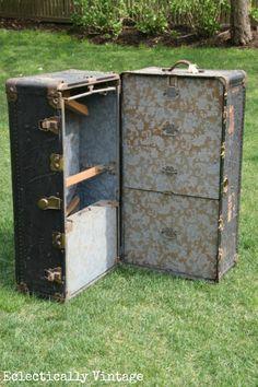 Vintage Steamer Trunk eclecticallyvintage.com