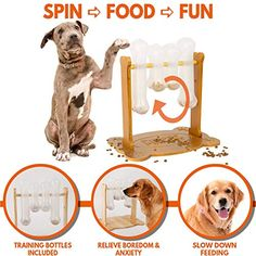 Interactive Dog Food Puzzle Toy - Treat Dispensing Dogs Slow Feeder - Indoor Boredom Stress Relief Smart Dog Game for Smart Training - Refillable Tricky IQ Feeding Game (This is an affiliate link) Iq Puzzle, Puzzle Toys, Online Pet Supplies, Dog Supplies, Tough Dog Toys, Smart Dog Toys, Dog Enrichment, Dog Puzzles, Interactive Dog Toys