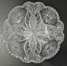 american brilliant cut glass patterns | Hawkes American Brilliant Period Well Cut Glass Chrysanthemum Pattern ...