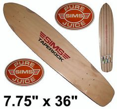 "SIMS 36"" CLASSIC TAPERKICK Deck, Doblecero Surf & Skate"