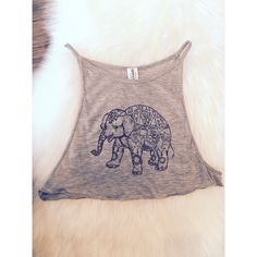 NWOT. Elephant Crop Top Super cute crop top - perfect casual wear for summer. NWOT. LF Tops Crop Tops