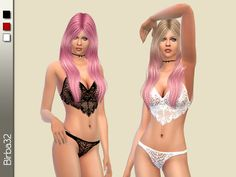Sims 4 CC's - The Best: Lingerie by Birba32