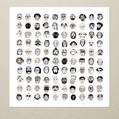 Gentlemen Art Print - SALE - Buy 2 Get 1 Free by meszely on Etsy https://www.etsy.com/listing/212022687/gentlemen-art-print-sale-buy-2-get-1