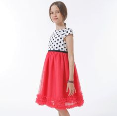 ROCHIE CU BUST BULINE SI TUL CORAI Special Occasion, Girls Dresses, Skirts, Fashion, Tulle, Moda, Dresses Of Girls, Little Girl Dresses, Skirt