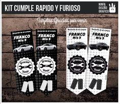 Kit De Cumple Imprimible Rápido Y Furioso