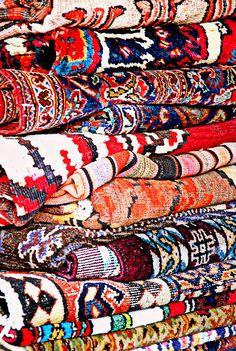 carpets in flea market - Jaffa