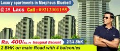 MORPNEUS GROUP launches MORPHEUS BLUE BELL at NOIDA extension range 11 lac onward location next to SUPERTECH eco village2.We are dealing in all the projects of Noida, Gr.