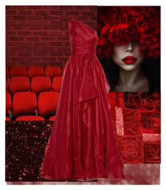 """Red: The Color Of Desire"" by a-fantasist ❤ liked on Polyvore featuring Marchesa"
