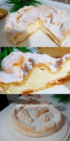 All Time Easy Cake : Pie Karpatka: incredibly tasty and easy . Cheesecake Recipes, Pie Recipes, Sweet Recipes, Snack Recipes, Cooking Recipes, Homemade Cheesecake, French Dessert Recipes, Egg Recipes For Breakfast, Italian Desserts
