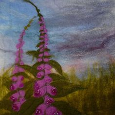 Foxgloves  -  Threlfall's Art Studio Felt