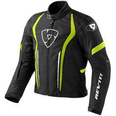 Rev'it Shield Textile Jacket - Black / Neon Yellow - FREE UK DELIVERY
