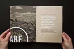 Associated British Foods Annual Report by Beth Sicheneder, via Behance