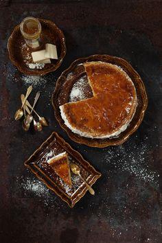 """noperfectdayforbananafish: """"(via Le Parfait - White Chocolate Cake with Apricot Glaze) """""""