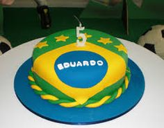 Bolo Brasil Cake, Desserts, Food, Theme Cakes, World Cup, Decorating Cakes, Soccer, Pies, Tailgate Desserts