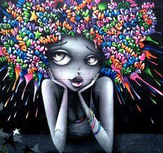 a Bobigny in Francia Vinie Graffiti Graffiti Art, Murals Street Art, Art Du Monde, Urbane Kunst, Grafiti, Oeuvre D'art, Urban Art, Black Art, Love Art